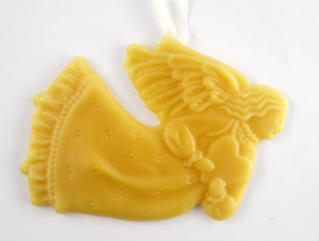 Beeswax Angel Ornament