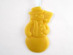 Beeswax Snowman Ornament