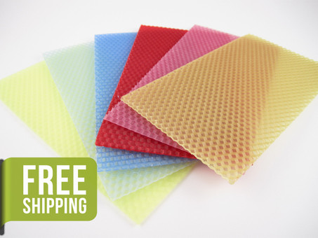 Beeswax Sheets in Assorted Colors