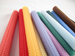 Beeswax Taper Candles in Assorted Colors