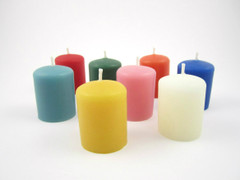Colorful Beeswax Votives