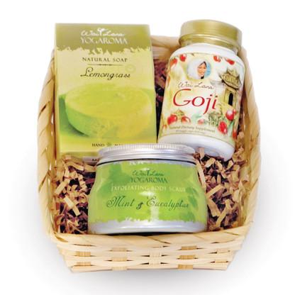 Yogaroma™ Soap, Yogaroma™ Body Scrub & Goji Veggie Capsules