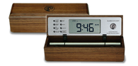 Zen Travel Alarm Clock (Walnut Wood Case)