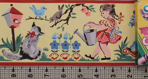 Imperial Vintage Wallpaper Border Jack Be Nimble Nursery Rhyme Yellow
