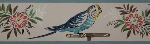Trimz Vintage Wallpaper Border Parakeet