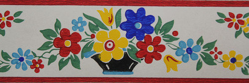Trimz Vintage Wallpaper Border Kitchen Floral Large