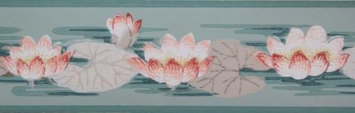 Trimz Vintage Wallpaper Border Lotus