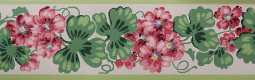 Trimz Vintage Wallpaper Border Pink Climber