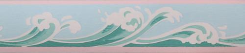 Trimz Vintage Wallpaper Border Seafoam