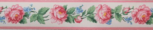Trimz Vintage Wallpaper Border Rose Band