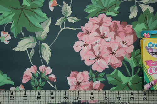 1950s Vintage Wallpaper Geranium Ivy