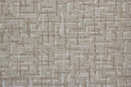 1940s Vintage Wallpaper Brown and Pink Weave Faux Finish