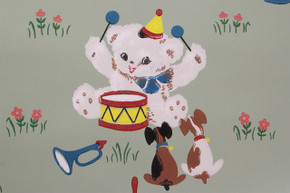 1940's Vintage Wallpaper Bears and Puppies