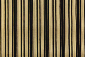 1970's Vintage Wallpaper Black and Gold Flocked Stripe