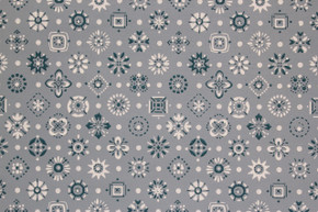 1950's Vintage Wallpaper Blue and White Geometric