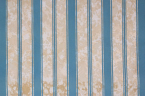 1970's Vintage Wallpaper Flocked Blue Stripe