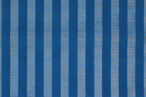 1970's Vintage Wallpaper Blue Flocked Stripe