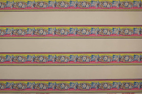Blue Pink and Yellow Vintage Wallpaper Border