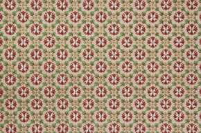 1970's Vintage Wallpaper Brown and Green Geometric