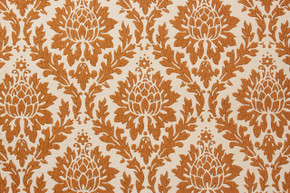 1960's Vintage Wallpaper Brown Damask Design