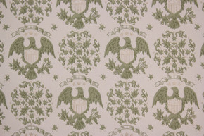 1970's Vintage Wallpaper Eagles and Medallions Americana Gray