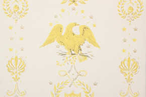 1970's Vintage Wallpaper Eagles Americana Yellow