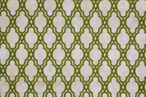 1970's Vintage Wallpaper Flocked Green Design