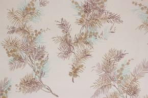 1950's Vintage Wallpaper Pine Needles Berries