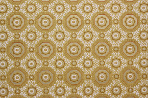 1950's Vintage Wallpaper Gold and White Geometric