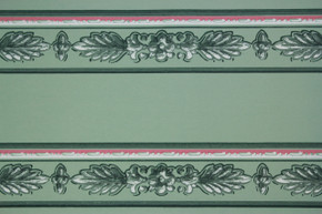 1940's Vintage Wallpaper Border Green Leaf