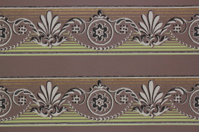 1950's Vintage Wallpaper Border Green and Brown