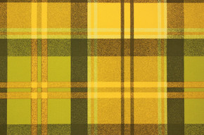 1970's Vintage Wallpaper Green and Yellow Plaid Cabin Style