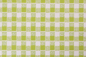 1970's Vintage Wallpaper Vinyl Green Check