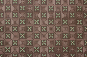 1950's Vintage Wallpaper Green Geometric on Brown