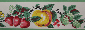 Imperial Vintage Wallpaper Border Fruit White
