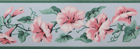 Imperial Vintage Wallpaper Border Morning Glory Pink