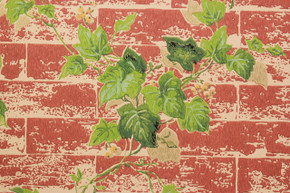 1970's Vintage Wallpaper Ivy on Brick