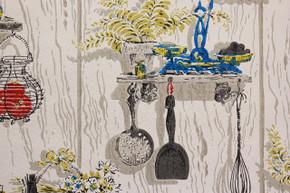 1970's Vintage Wallpaper Kitchen Kitsch