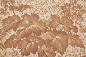 1970's Vintage Wallpaper Vinyl Brown Leaves and Flowers