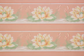1940's Vintage Wallpaper Border Lillies