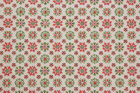 1970's Vintage Wallpaper Red, Orange and Green Geometric