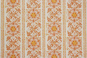 1970's Vintage Wallpaper Orange and Yellow Geometric Stripe