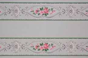 1930's Vintage Wallpaper Border Pink Rose