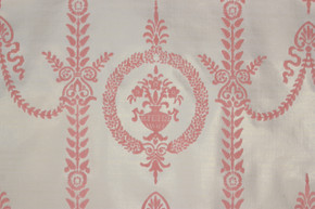 1970's Vintage Wallpaper Pink Victorian Flocked Design