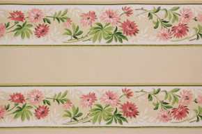 1940's Vintage Wallpaper Border Pink Flowers