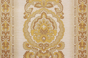 1970's Vintage Wallpaper Retro Yellow Damask