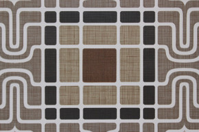 1970's Vintage Wallpaper Retro Geometric Brown Black