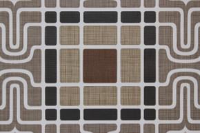 1970's Vintage Wallpaper Retro Geometric Brown Black