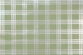 1970's Vintage Wallpaper Retro Green Plaid Foil