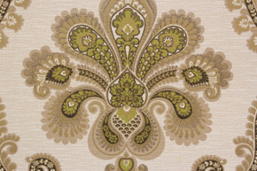 1970's Vintage Wallpaper Retro Large Green Damask